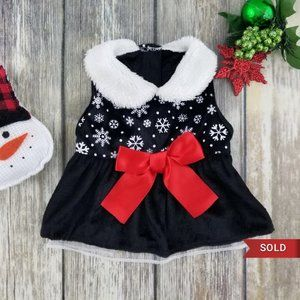 Snowflakes Holiday Pet Dress